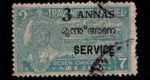 India - Travancore Cochin Feudatory state Scott o6 Used
