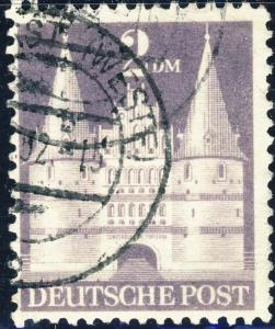 ALLEMAGNE / GERMANY Bizone 1948 Mi.98.YIIB(98.IIwg) 2DM T.2 p.11 - VF Used (c)