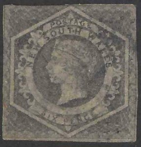 Australia - New South Wales 1854-1855 SC 27 Used SCV $110.00
