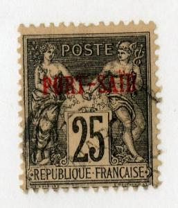 FRENCH OFFICE ABROAD PORT SAID 9 USED SCV $5.00 BIN $2.00 PEOPLE