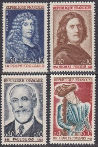France Sc #B387-B390 MNH; Mi #1500-03