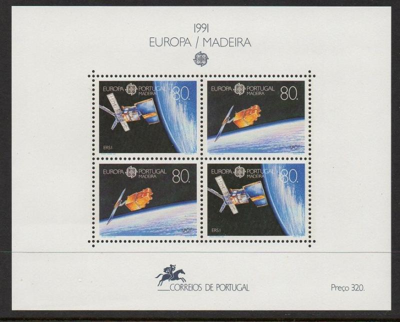 Portugal Madeira 1991 Europa Space SS VF MNH (152a)