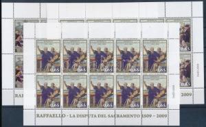 Vatican stamp Raffaello minisheet set MNH 2009 Mi 1648-1650 WS159209