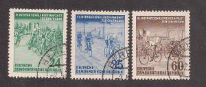 GERMANY - DDR SC# 148-50 F-VF U 1953