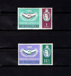 BECHUANALAND - 1965 - QE II - ICY - COOPERATION YEAR - MINT - MNH SET!
