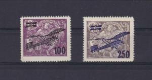 czechoslovakia airplane overprint stamps  ref r14022