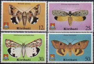 Kiribati 1980 SG117-120 Moths set MNH