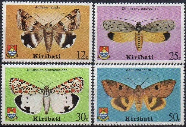 Kiribati 1980 SG117-120 Moths set MNH
