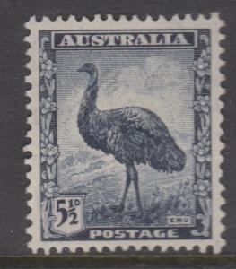 Australia 1942 5 1/2d Emu Sc#196 Fine MH