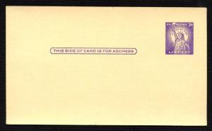 US Scotts UX46 3 Cent Statue Of Liberty Postcard Unused HipStamp