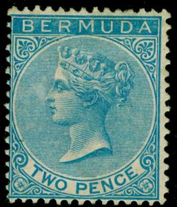 BERMUDA SG3, 2d dull blue, M MINT. Cat £475.
