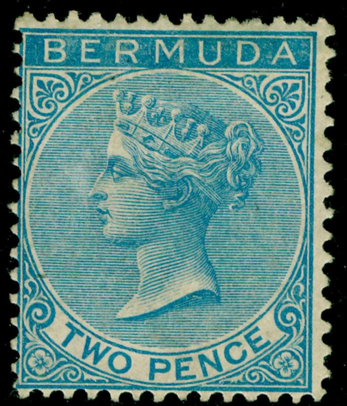 BERMUDA SG3, 2d dull blue, M MINT. Cat £475.