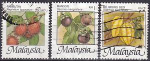 Malaysia #766A, 766D, 766E  F-VF Used CV $18.00  (A19887)