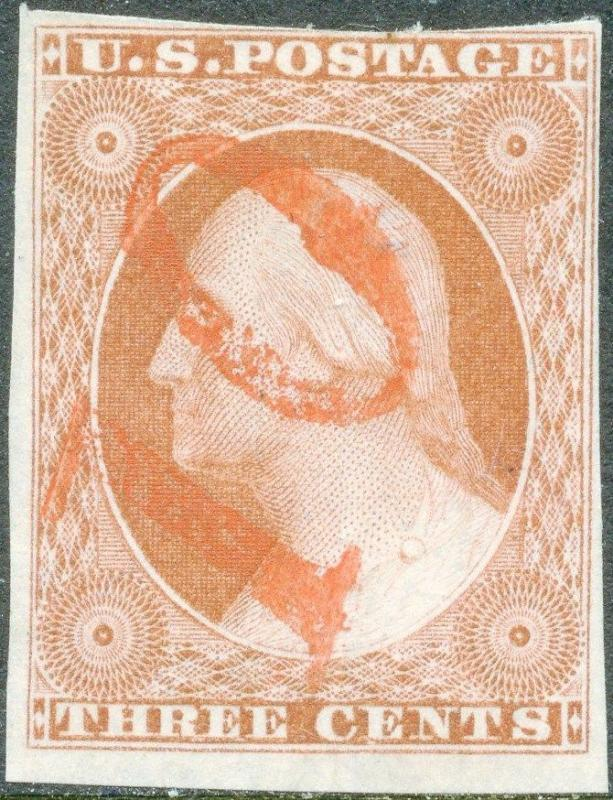 #10 VF USED WITH RED NUMERAL 10 CANCEL CV $225.00 BP2006