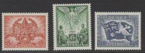 AUSTRALIA SG1542/4 1995 PEACE IN THE PACIFIC MNH