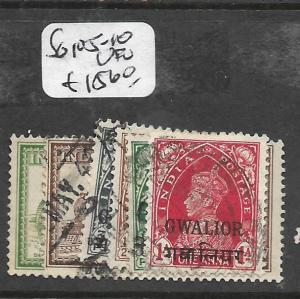 INDIA GWALIOR (P2701B) KGVI SG 105-10  VFU