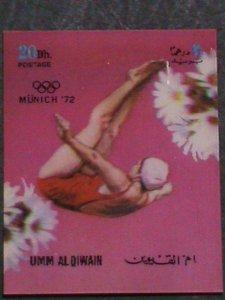 UM-AL QIWAIN STAMP-1972- OLYMPIC GAME MUNICH'72 - AIRMAIL- 3-D STAMP MNH #1