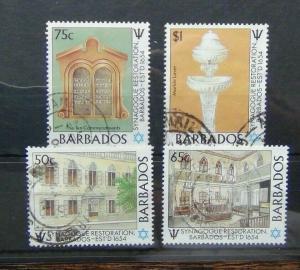 Barbados 1987 Restoration of Bridgetown Synagogue set Used