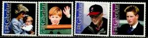 GIBRALTAR Sc#913-916 2002 Prince Harry 18th Birthday Complete Set OG Mint NH