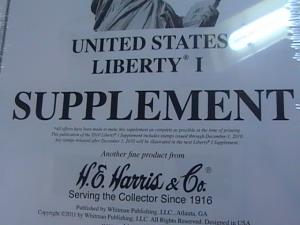 U.S.-HARRIS -LIBERTY I---2010 SUPPLEMENT--NEW IN PLASTIC