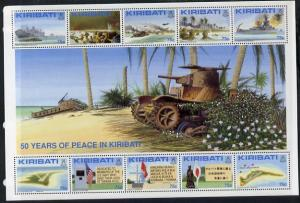 Kiribati 1993 50th Anniv of Battle of Tarawa perf sheetle...