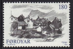 Faroe Islands 1982 MNH villages  180 ore   #