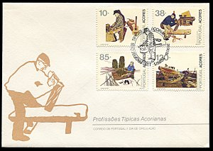 Azores 406-409, FDC, Professions of the Azores Islands