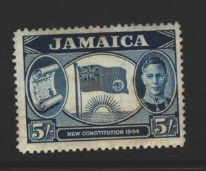 Jamaica Sc#134 MH - toning