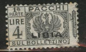 LIBYA Scott Q22 parcel post half used