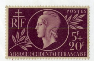 FRENCH WEST AFRICA B1 MH SCV $6.75 BIN $2.75 PORTRAIT