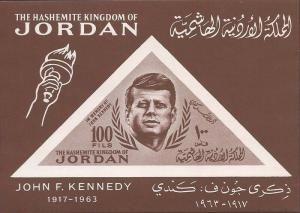 Jordan - 1964 President John F. Kennedy - Souvenir Sheet - Scott #462a