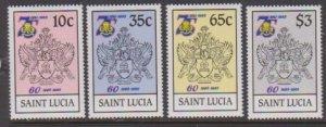1985 St. Lucia Scott # 727-730 Girl Guides MNH