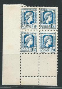 Algeria 179 1944-5 1.50fr Marianne Corner Block of 4 MNH