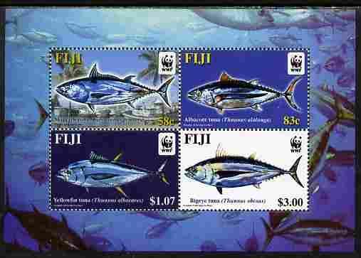 Fiji MNH S/S 1006 Tuna Marine Life WWF 2004