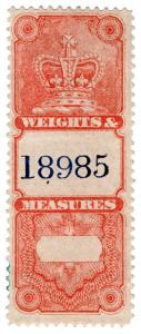 (I.B) Canada Revenue : Weights & Measures (unappropriated)
