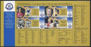 Papua New Guinea 1140 ad,1141 sheets,MNH. FIFA centenary,2004.