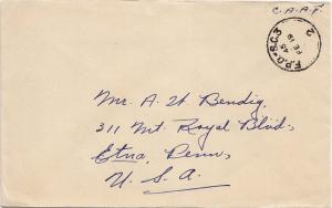 Canada Soldier's Free Mail 1944 F.P.O. - S.C. 3, 2 Canadian Reinforcement Uni...