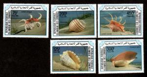 Comoro Islands # 609-613 Mint NH Sea Shells!