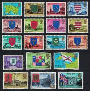 Jersey Zoo Lighthouse Church Castle Airport Flag Definitives 18v SG#137-154