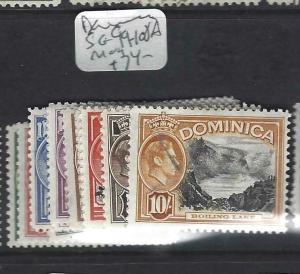DOMINICA  (PP2802B)  KGVI SET LESS 1/4D  SG 99-108A   MOG