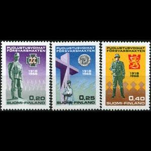 FINLAND 1968 - Scott# 471-3 Natl.Defense Set of 3 NH
