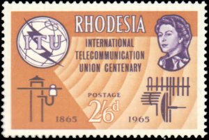 Rhodesia #200-202, Complete Set(3), 1965, Never Hinged