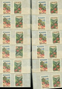NEW CALEDONIA SC# 331-2 PLANTS LOT OF 18 MINT NH AS SHOWN CATALOGUE VALUE $46.80