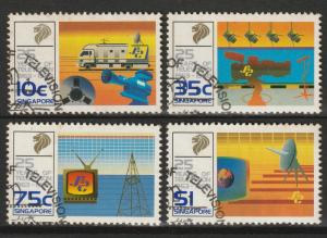 1988 25 Years of Television in Singapore set of 4V CTO SG#575-578