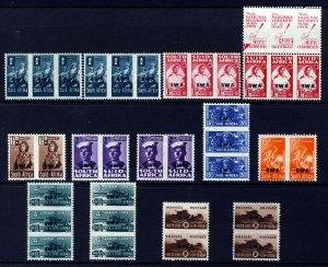 SOUTH WEST AFRICA 1943-44 War Effort Reduced Size Set SG 123 to SG 130b MINT