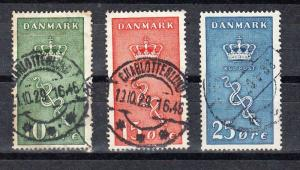 Denmark Scott B3-B5 Used (Catalog Value $80.25)