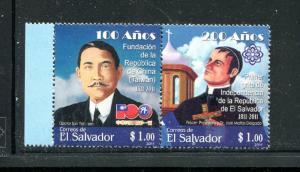 Salvador 1711, MNH, Salvadorian Independence Leader 2011. x31086