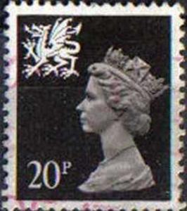 GREAT BRITAIN, WALES, used 20p,WMMH38 Machins
