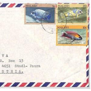 CF91 1991 Malawi *NANKHUNDA* MISSIONARY Air Cover MIVA VEHICLES Austria FISH