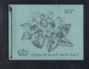 Great Britain Sc BK143 1971-2 stamp booklet mh22a,33b,36a,36c mint NH